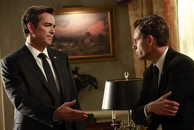 Negotiations: Andrew and Fitz discussed business before the real explosions happened