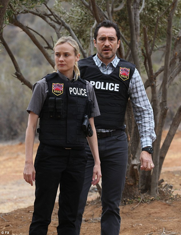 Critically acclaimed: Diane and co-star Demián Bichir work together to try and solve the international case
