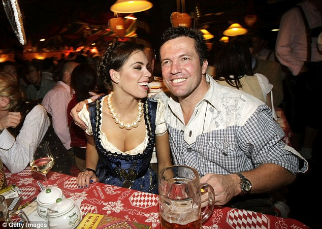 Soccer wife: The Ukraine fashion model met her ex-husband, retired German soccer star Lothar Matthaus - thrice-divorced and 26 years her senior - at a beer hall in 2007