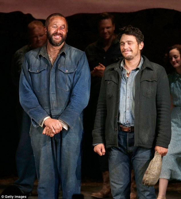 Debut act: Franco and Chris O'Dowd made their Broadway debuts in the revival of the classic Of Mice and Men