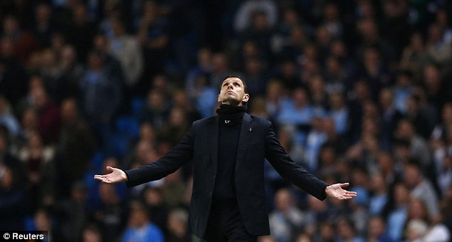 To the heavens: Gus Poyet insisted he will not quit as Sunderland boss despite relegation looming