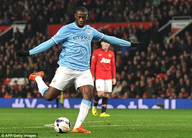Unstoppable! The Manchester City midfielder has had a tremendous season for Manuel Pellegrini's side