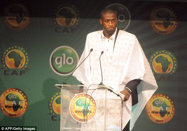 Recognised: Toure was declared the CAF African Footballer of the Year in Nigeria earlier this year