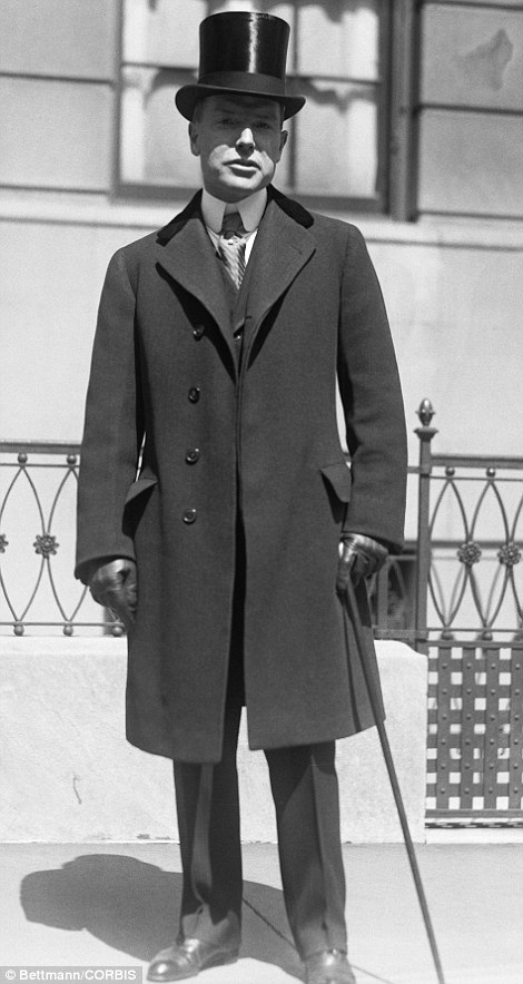 16 Apr 1922 --- Original caption: New York, New York: Easter Sunday on Fifth Avenue. John D. Rockefeller, Jr.