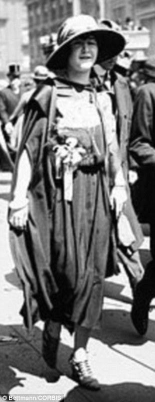 16 Apr 1922 -- New York, New York: Easter Sunday on Fifth Avenue. Miss Margaret Hennesy.