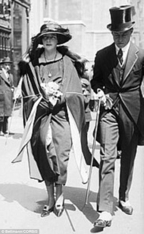 17 Apr 1922 --- Original caption: New York, New York: Easter Sunday on Fifth Avenue. Mr. and Mrs. Leonard Thomas.