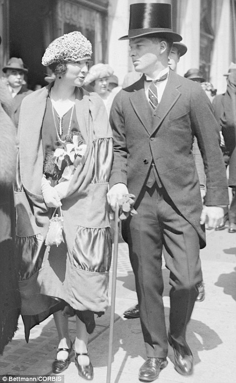 17 Apr 1922 --- Original caption: New York, New York: Easter Sunday on Fifth Avenue. Mr. A.J. and Virginia Fox --