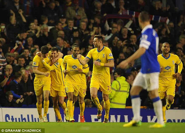 Upset: Everton will be looking to get back on track in the top-four race after a home defeat by Everton