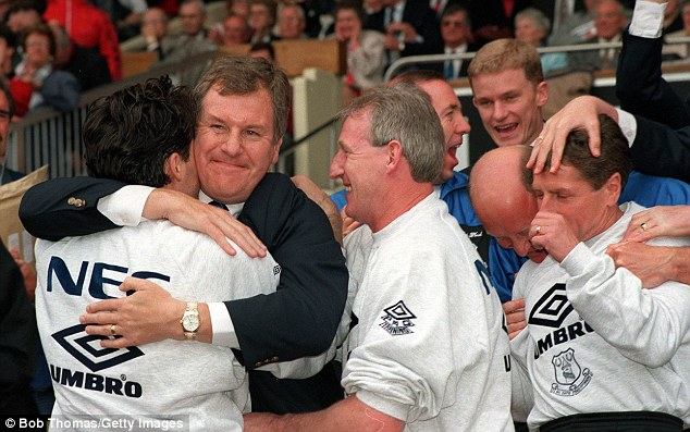All smiles: Joe Royle won the FA Cup with Everton in 1995 and also spent eight years as a player at Goodison