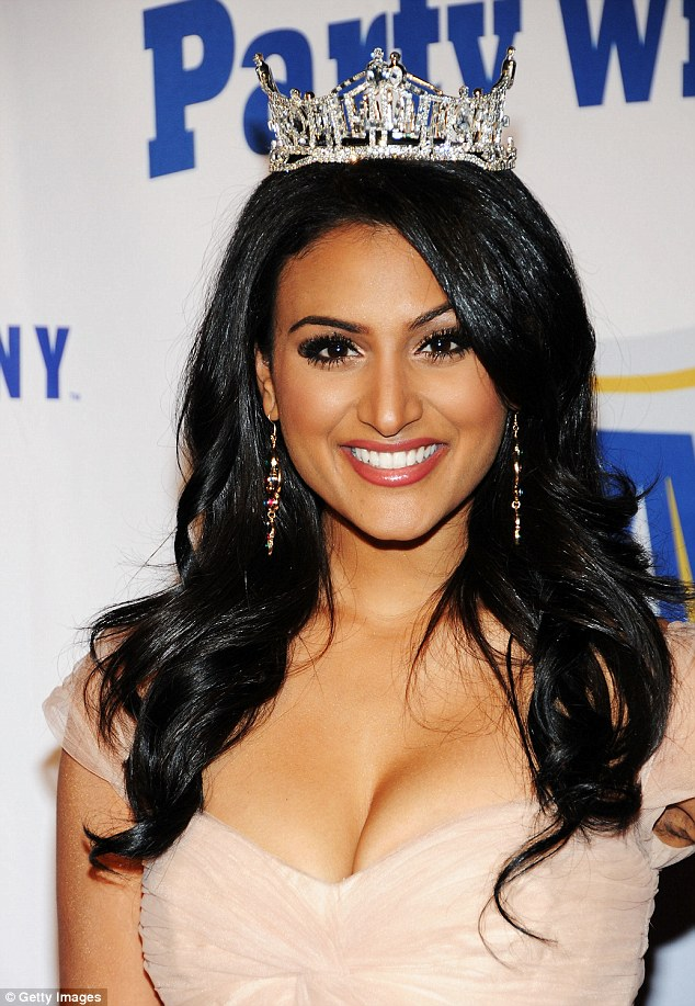 Miss America, Nina Davuluri, was at a high school in York, Pennsylvania when she got asked to the prom by a senior, who was then suspended for  three days for asking her the question