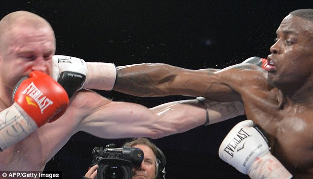 Clean: Quillin lands a straight right on his tough Czech challenger on his way to a unanimous points decision