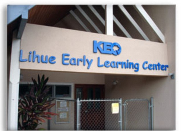 Children's Centre: Paleracio was employed at the Lihue Early Learning Center