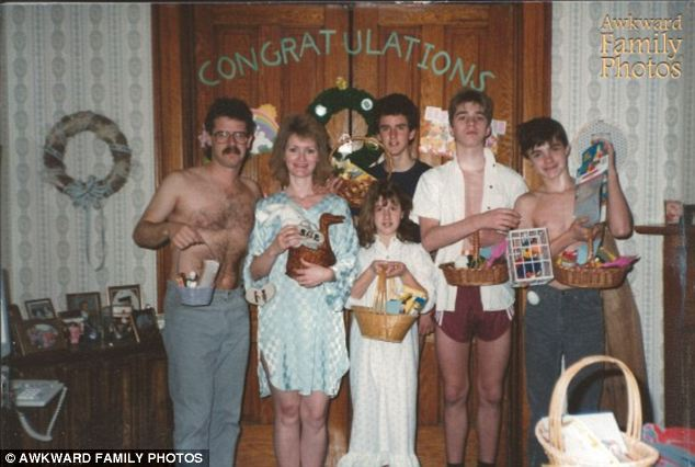 Congratulations: The Smiths take a chummier approach to Easter than most, preferring to congratulate Jesus on a resurrection well done