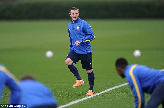 Fit to paly: But will Jack Wilshere get into Roy Hodgson's England starting XI?