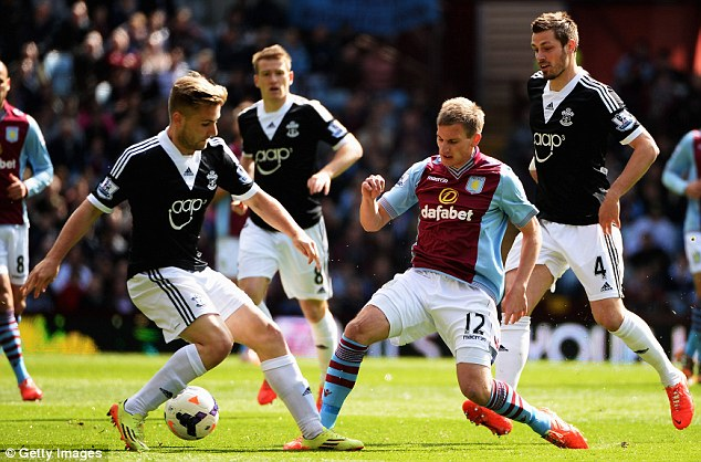 Impressive season: Luke Shaw is one of the players at Southampton who could move for big money