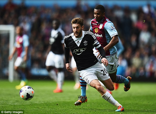 Twinkle toes: Adam Lallana could also be on his way in the summer
