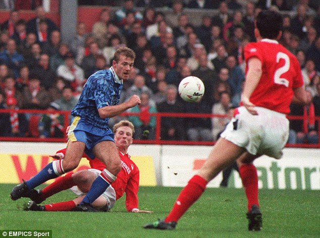 Starting out: Alan Shearer began his career at Southampton before moving to Blackburn
