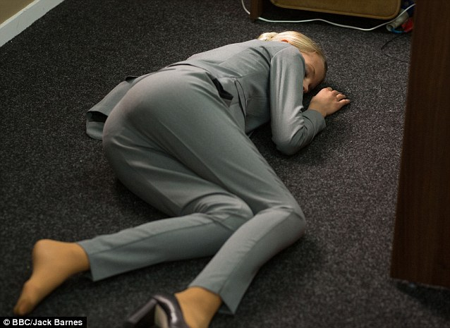Just an accident? The audience sees Lucy pushed to the floor by Max Branning before her death, which makes his appear a suspicious suspect in the case