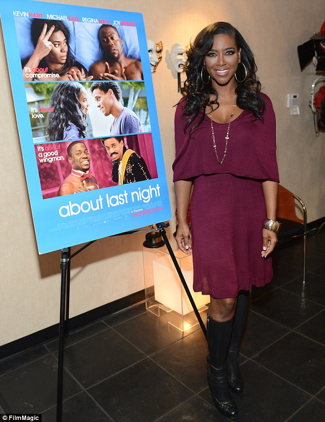 At the centre of the feud: Kenya attended the About Last Night screening in Atlanta, Georgia in February, before her physical scuffle with her co-star in March