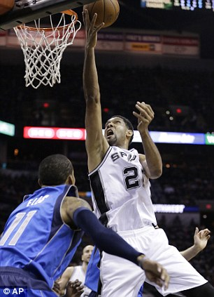 Time machine: San Antonio superstar  Tim Duncan hit 27 points in their victory over Dallas
