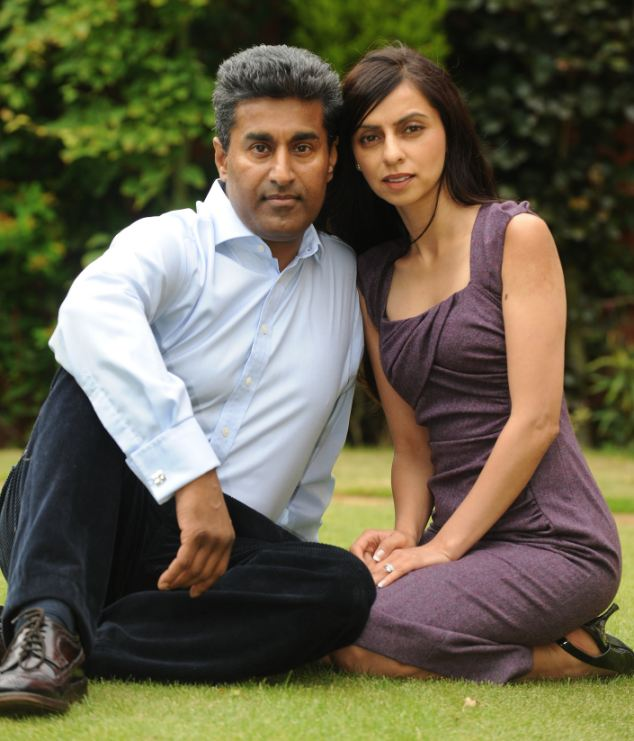 Unfairly dismissed: Dr Raj Mattu with his wife Sangeeta