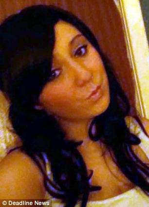 She was carried 'lifeless' from the home of mother Anne-Marie White, 21, last night