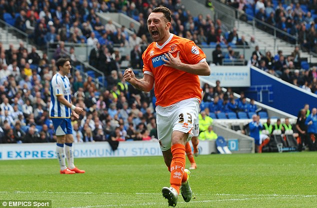 Level: Stephen Dobbie bagged Blackpool's equalising goal in the 50th minute