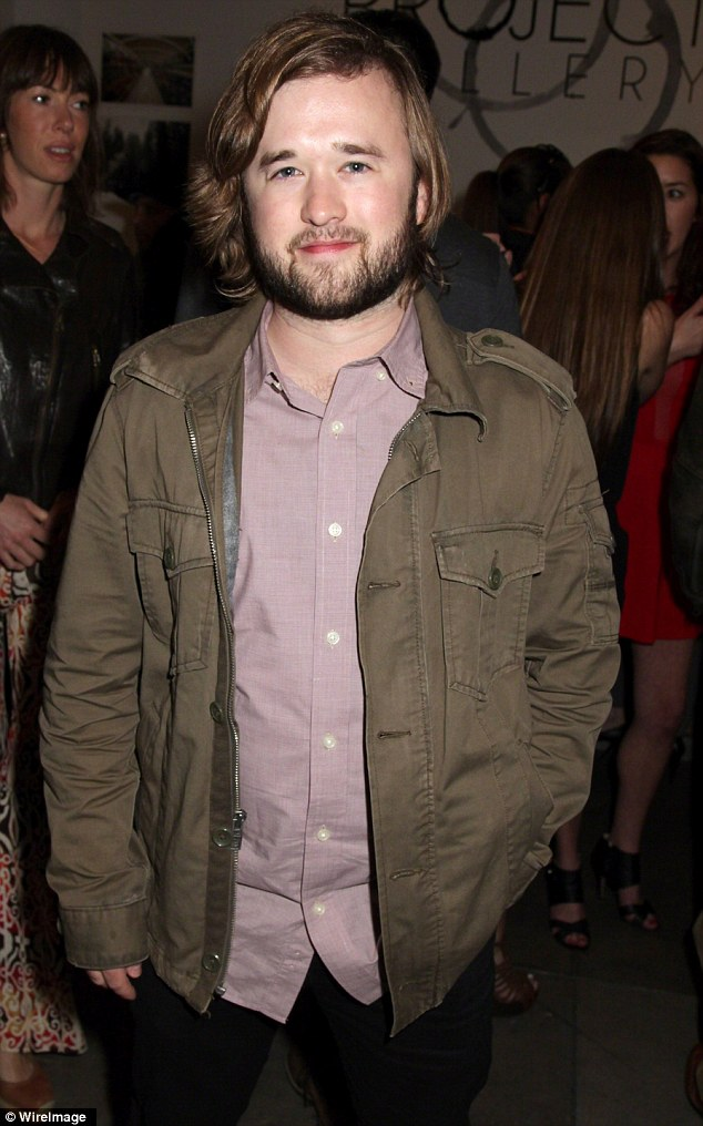 Less is more theory: Haley sported a neater beard on February 20 as he hit up an event in LA
