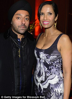 Lost loves: Padma was also linked to Lindsay Lohan's ex, Vikram Chatwal, while Gere was married to Cindy Crawford