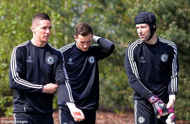 Between the sticks: Cech (right) is expected to remain as first-choice goalkeeper next term