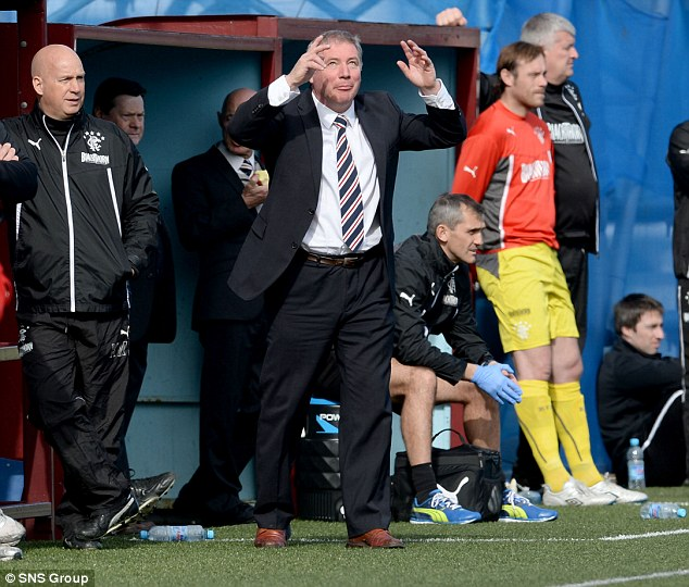 Getting the deal over the line: Rangers manager Ally McCoist hopes to do a deal for Boyd