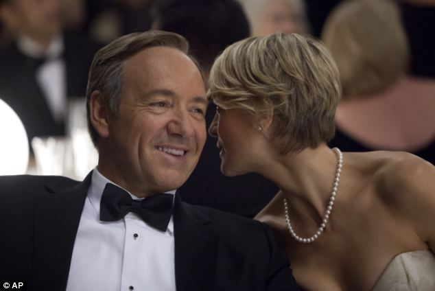 House of Cards with Kevin Spacey as Frank Underwood and Robin Wright as Claire Underwood: amazon hopes to repeat the success of the show - but is increasing its fess to pay for it.