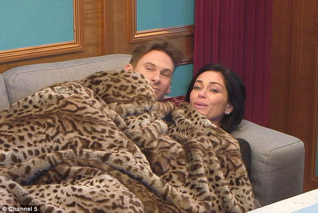 Undercover lovers: Romance blossomed between the pair in Celebrity Big Brother
