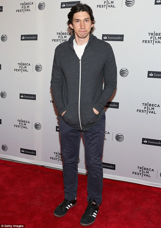 Showing his support: Actor Adam Driver took a break from filming GIRLS to attend the 2014 Tribeca Film Festival over the weekend