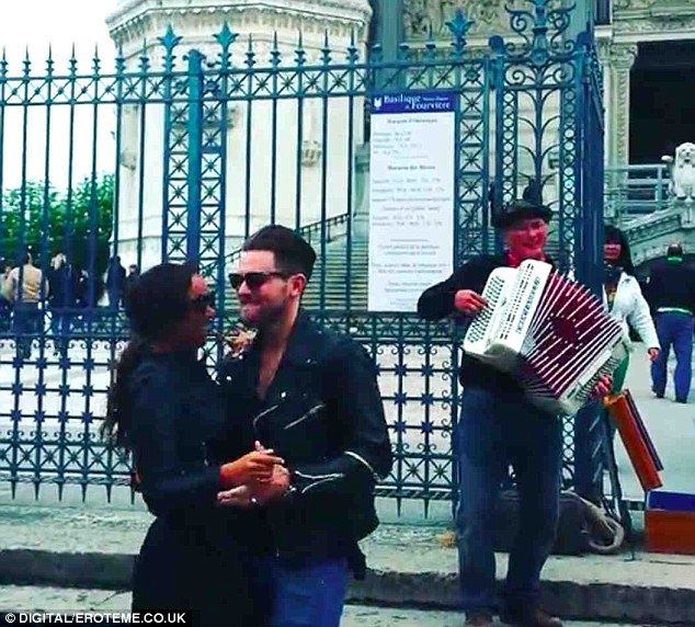 Dance duo: Leona Lewis and her boyfriend Dennis Jauch posted a video of themselves dancing in a street in Lyon. France on Monday