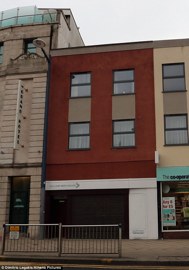 Parlour: The massage parlour, on the top floor of this building on Swansea high street, where the attack took place