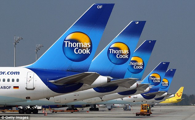 Change of plans? Sandi and her friend were due to fly out with Thomas Cook next month