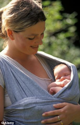 Dubious value: Many couples buy a baby sling and never actually use it