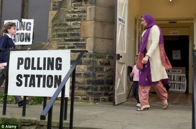 A report by think-tank Demos suggests 'upwardly mobile' ethnic minority voters are more likely to vote Tory in the 2015 election - breaking Labour's traditional stranglehold