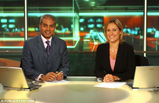 She dedicated the race to her colleague George Alagiah, 58, who announced he has bowel cancer
