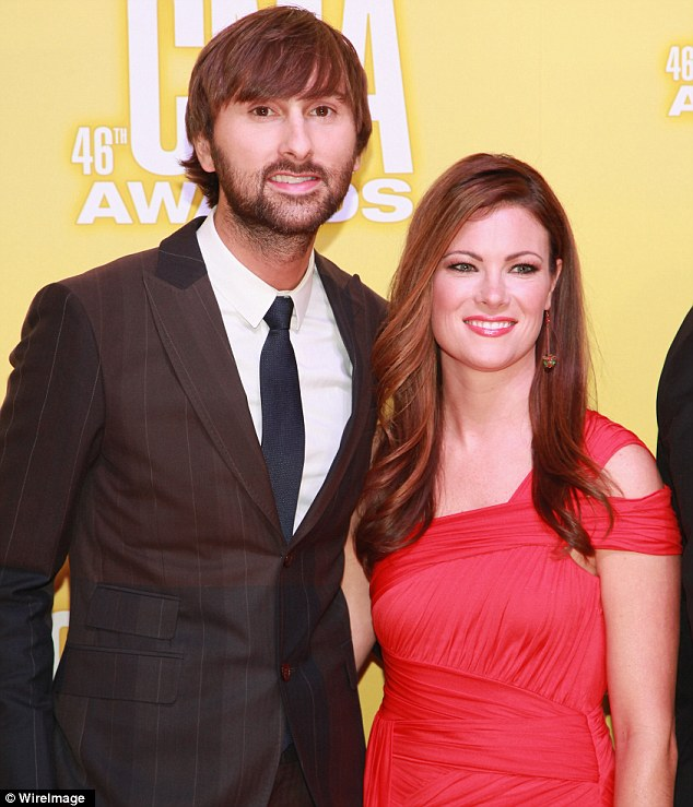 Baby on the way: Dave Haywood of Lady Antebellum and wife Kelli Cashiola, shown in 2012 in Nashville, Tennessee, announced on Monday that they are expecting a baby boy together