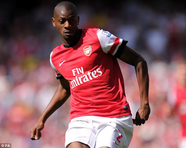 Set to return: Abou Diaby may feature for Arsenal U21's against Chelsea on Tuesday night