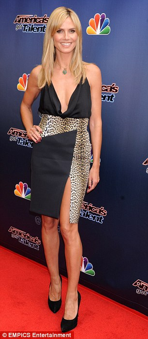 Style wars: Heidi Klum showed up Mel B on the America's Got Talent red carpet in Hollywood on Tuesday