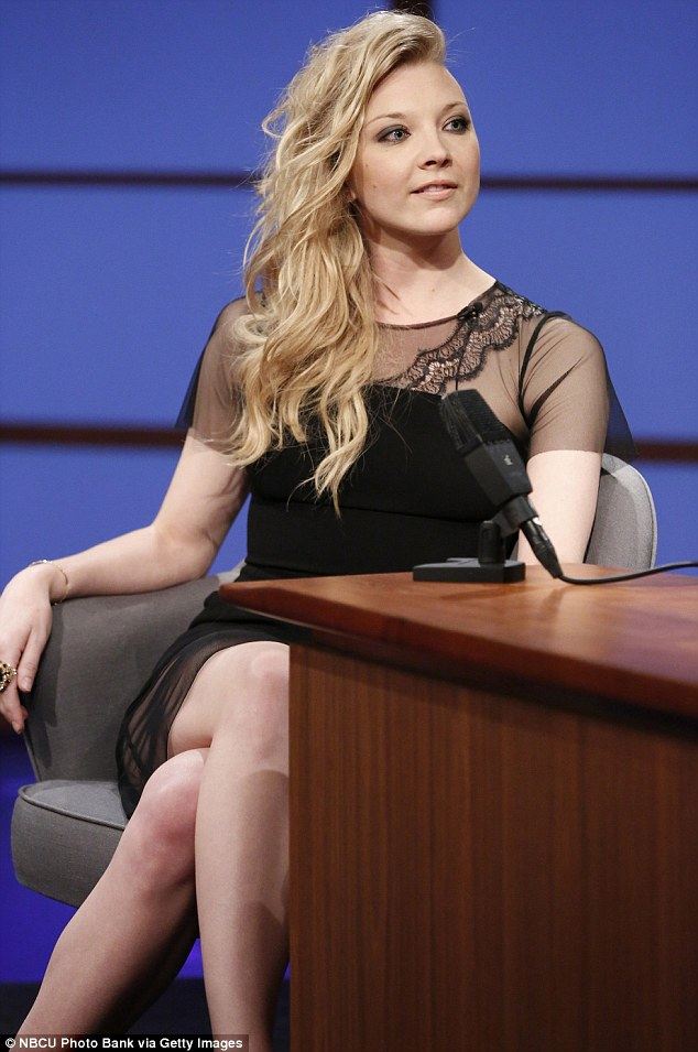 A lot to live up to: Natalie Dormer who stars with Liam in the Hunger Games films, said he had a 'big physique'