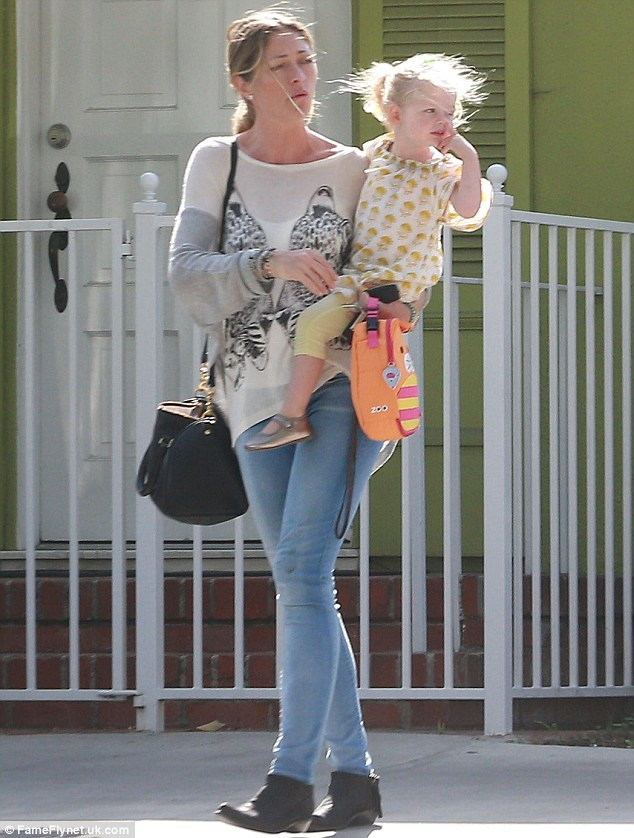 Like mother, like daughter: Georgia, 2, is Rebecca's youngest daughter with actor Eric Dane