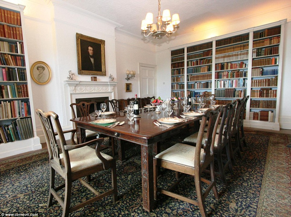 Holiday cottage: Porthpean House, now available to rent, boasts a grand interior including a dining room