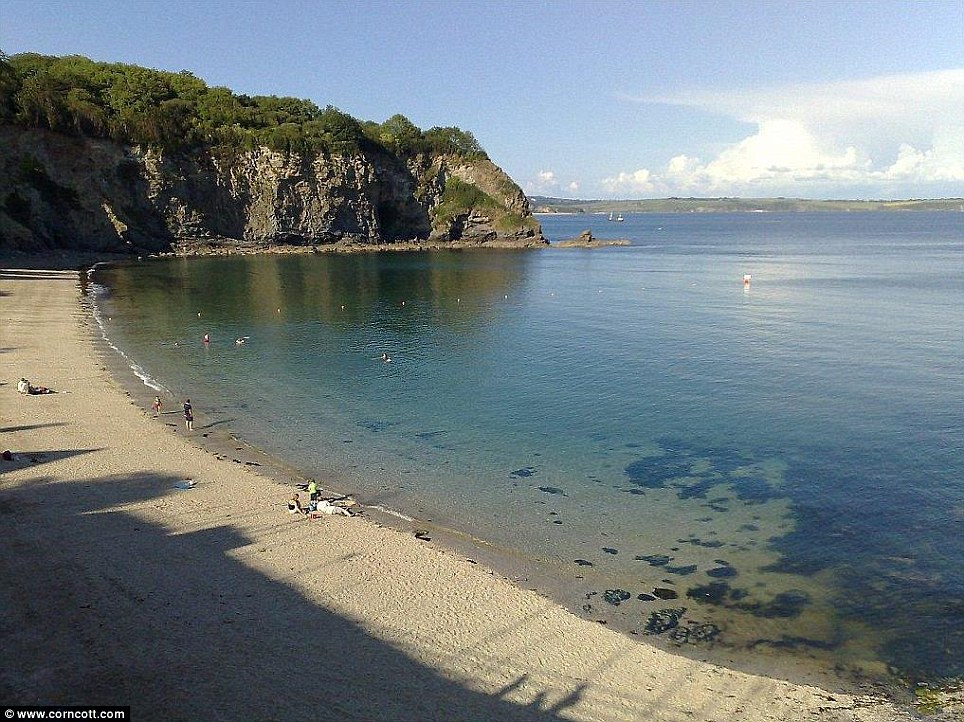Great location: The luxury holiday home, which featured in the Richard Curtis movie, is 50 metres above Porthpean beach