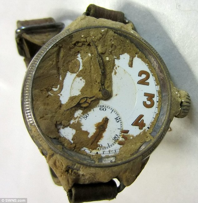 The watch worn by Lieutenant Twite was frozen at 8pm on 1 December 1915, the exact moment he was killed by a German mine. The watch lay untouched for 99 years after his widow was too heartbroken to look at it