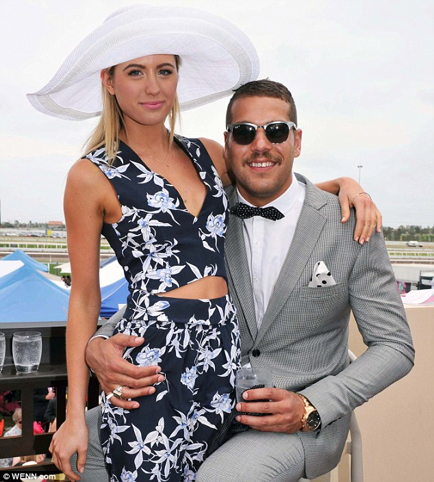 Star couple: Jesinta Campbell and Buddy Franklin have been dating since November, 2013 (pictured in Nov)