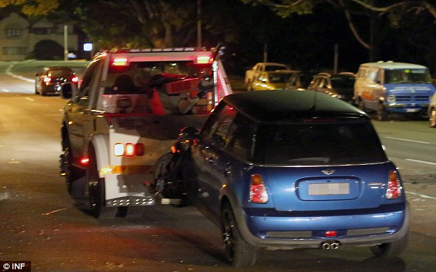 Mass accident: There was a total of five cars involved in the crash